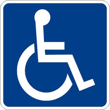 wheelchair accessible blue